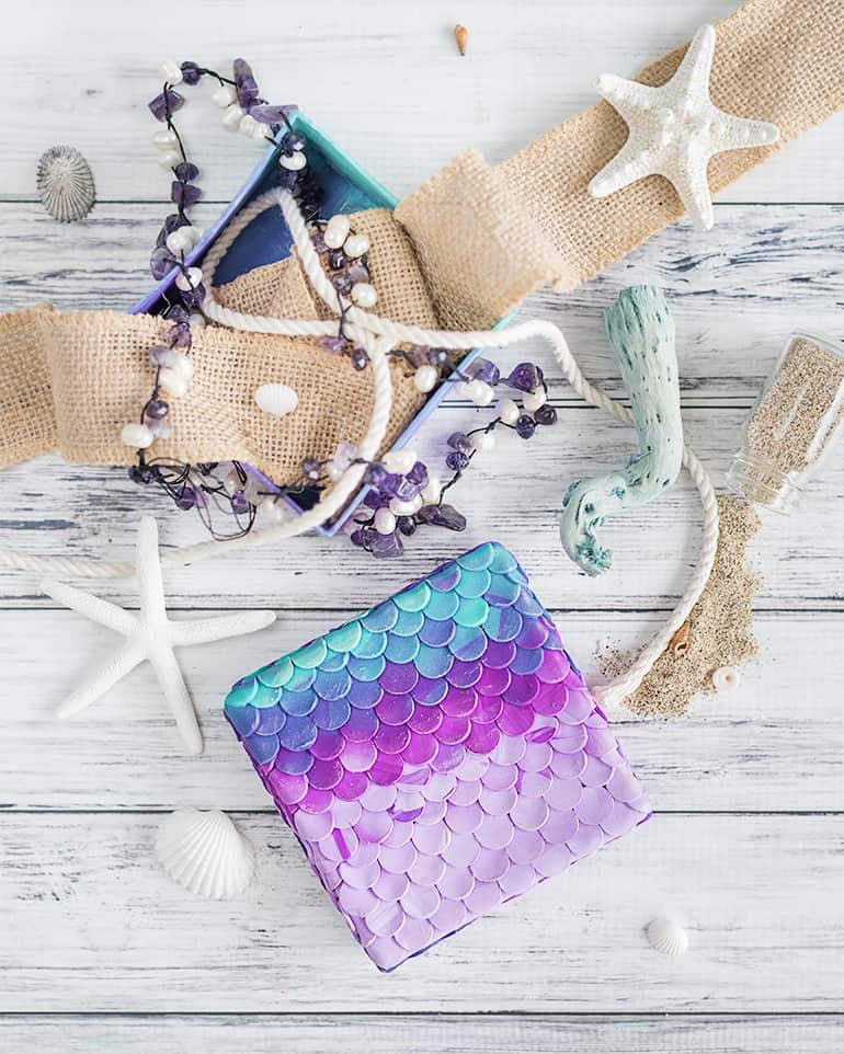 DIY mermaid box