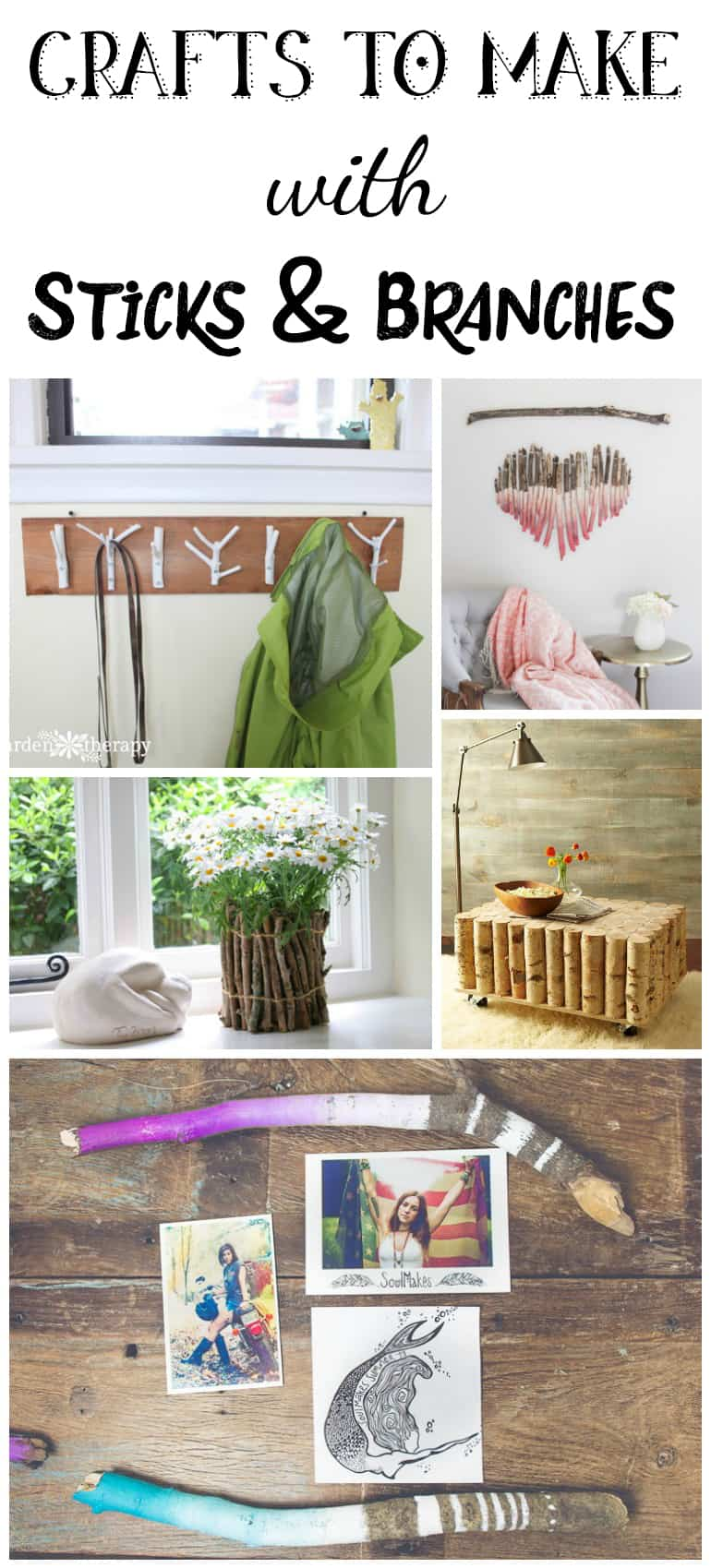 crafts with sticks and branches - natural crafts