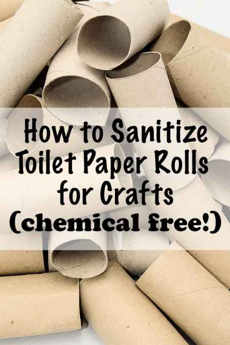 how to sanitize toilet paper rolls for crafts - chemical free!