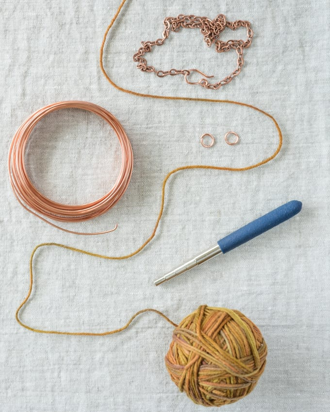 Mini Yarn Skein Necklace Tutorial - DIY Necklace for Yarn Lovers -