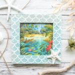 DIY mermaid picture frame