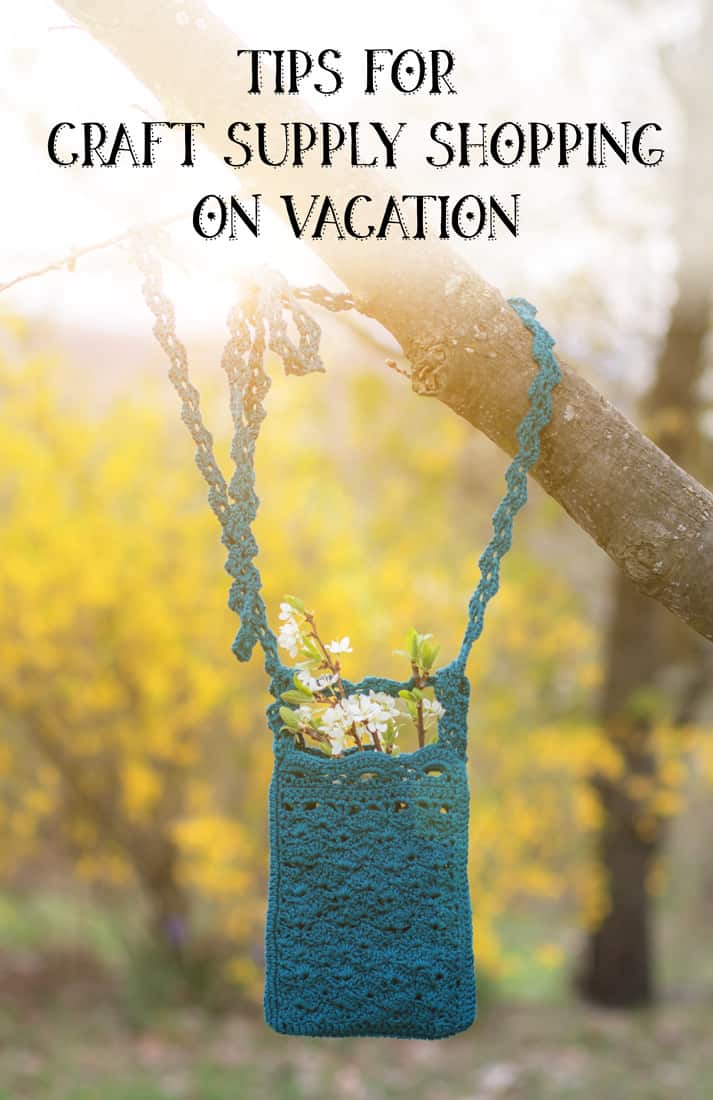 Tips for craft supply shopping on vacation
