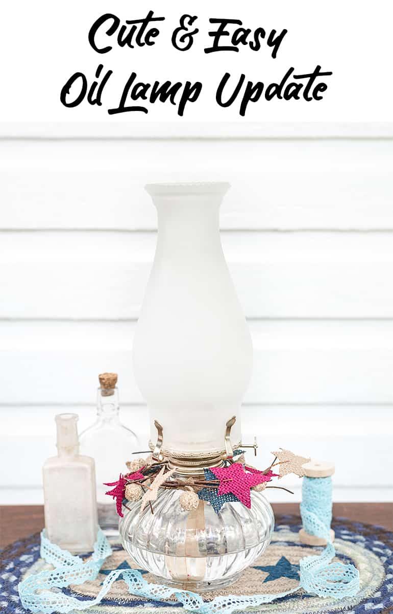 cute and easy diy oil lamp update