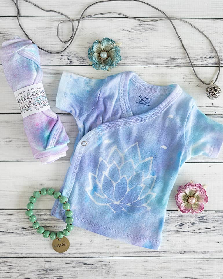 DIY Lotus Blossom Color Splash Shirt Tutorial
