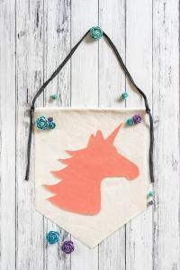 easy no-sew unicorn banner