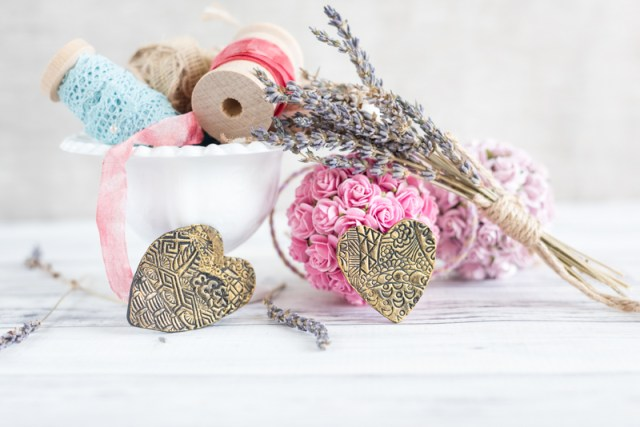 Easy Gilded Polymer Clay Valentines Tutorial