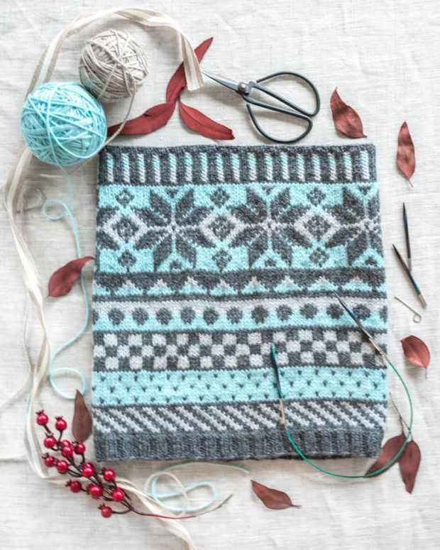 fair isle cowl from craftsy class