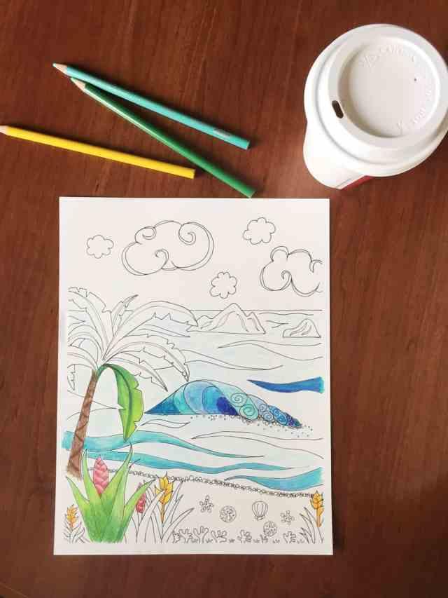 Hawaiian coloring page free printable