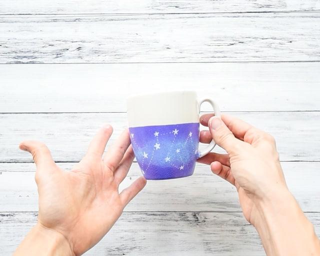 DIY dishwasher safe galaxy mug