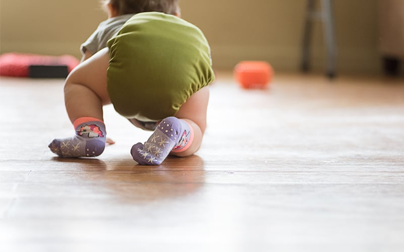 DIY grippy socks for babies