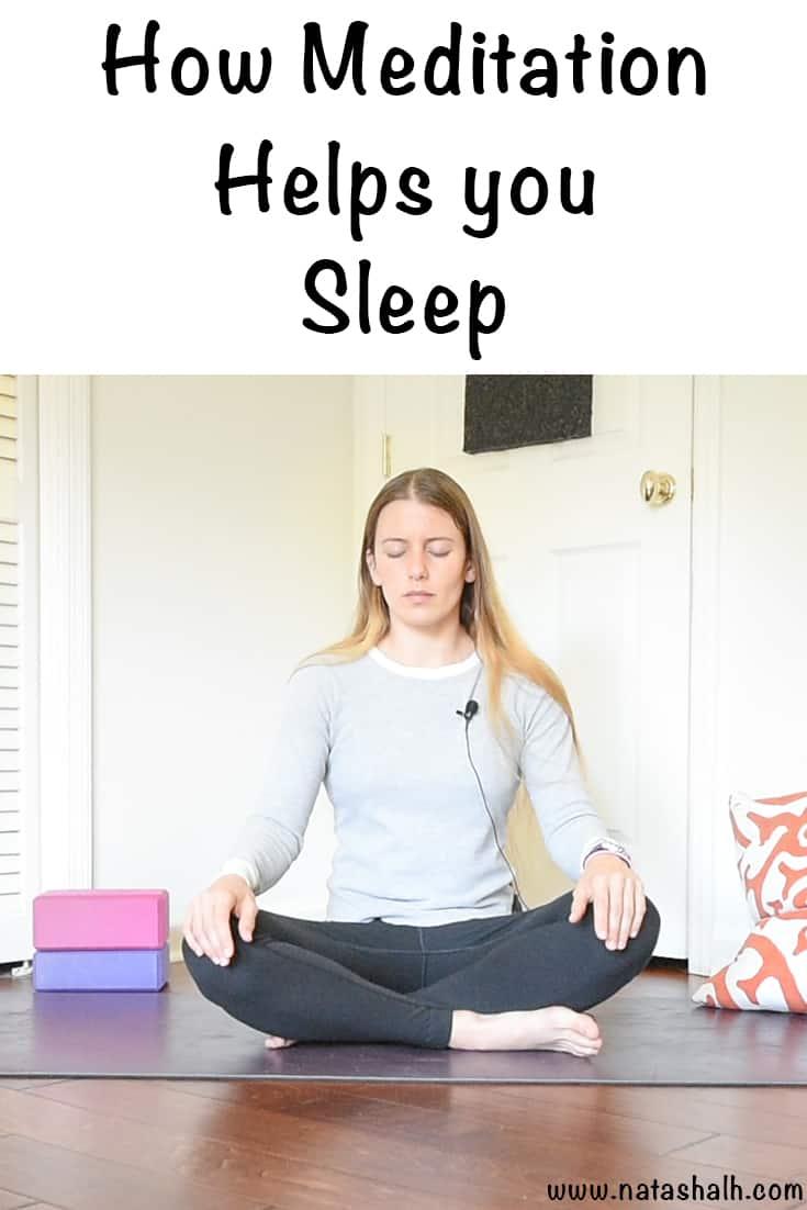 learn how meditation helps you sleep