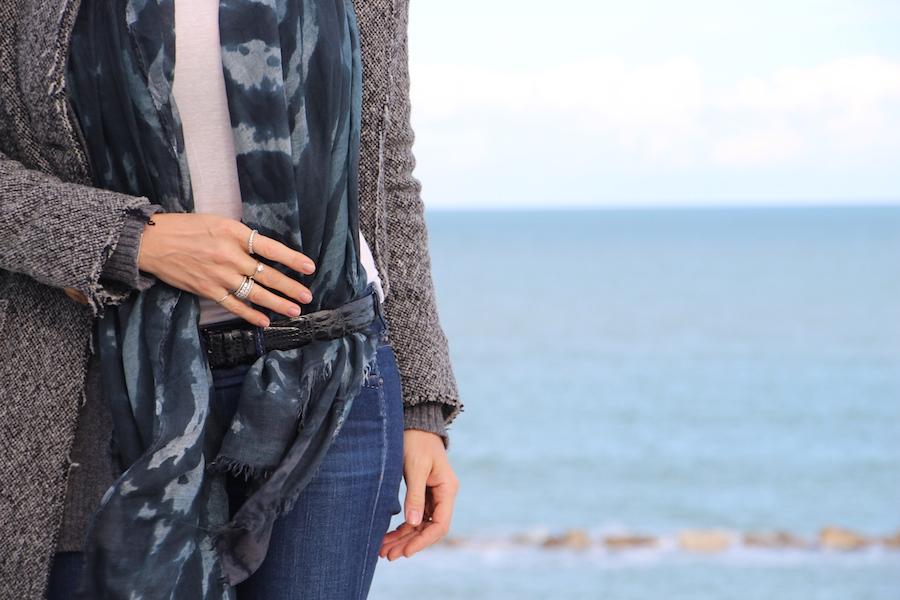 come indossare la pashmina cintura