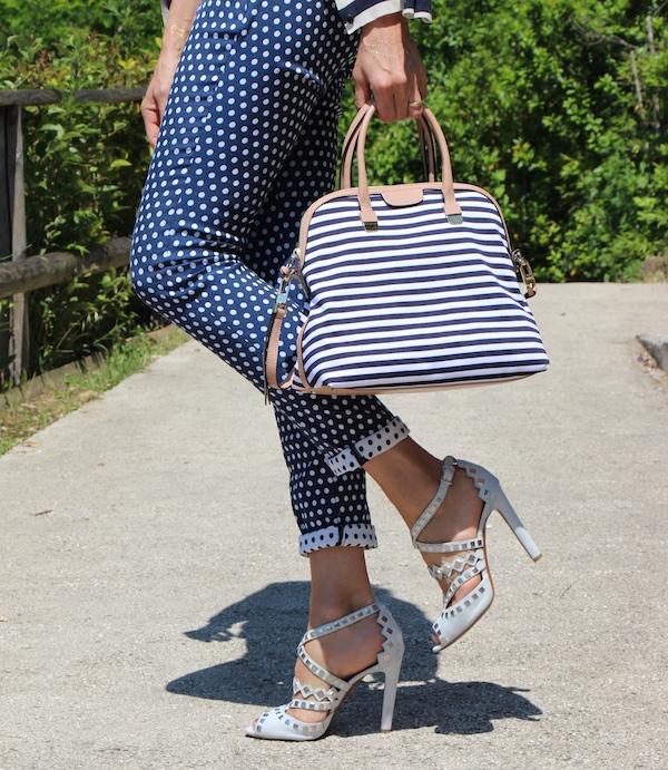 Outfit Elegante Estivo borsa coccinelle