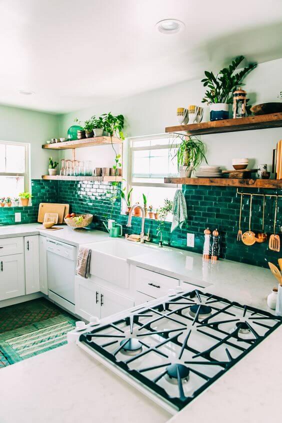 Tendenze per la casa 2016 verde e piante cucina - Natasha\'s Way