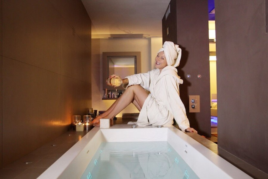 riposare bene bagno caldo