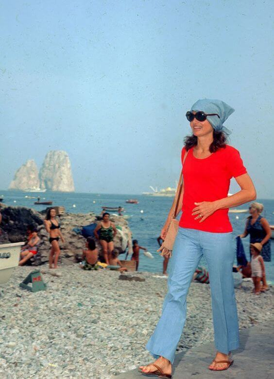 lo stile Jackie O in vacanza