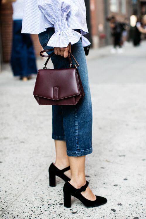 outfit di mezza stagione jeans corto