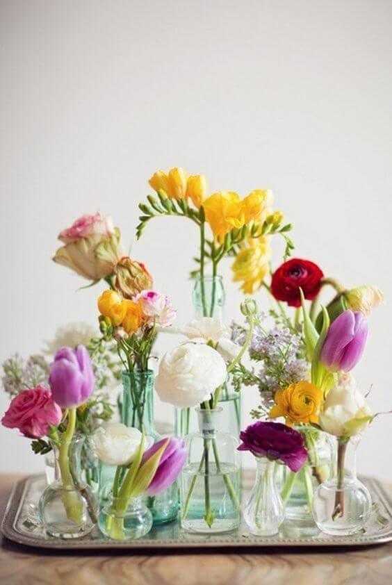 portare in casa la primavera vasi
