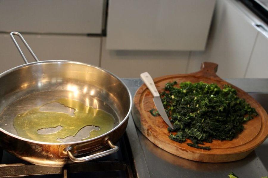 Кус-кус с черной капустой, приготовление