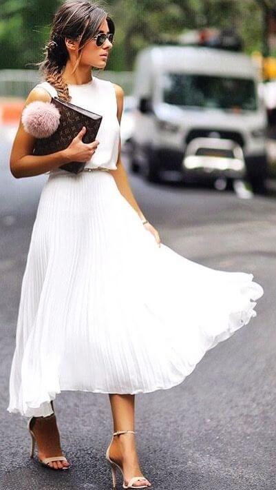 indossare il colore bianco Alessandra Echeverria