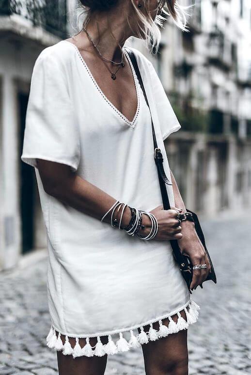 indossare il colore bianco SheerLuxe