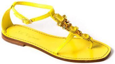sandali per l'estate 2017 Le capresi giallo