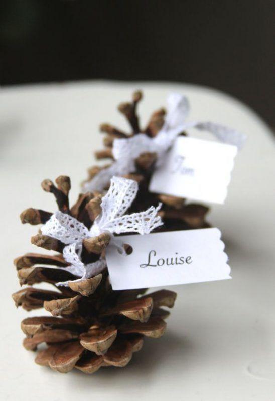 idee furbe per la tavola di Natale pigne