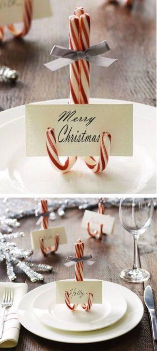 idee furbe per la tavola di Natale segnaposto