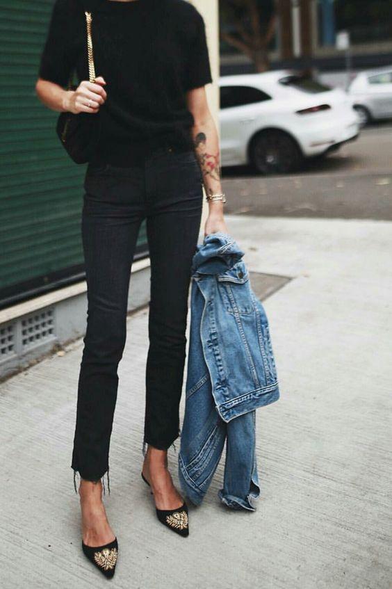 pantaloni a vita alta skinny