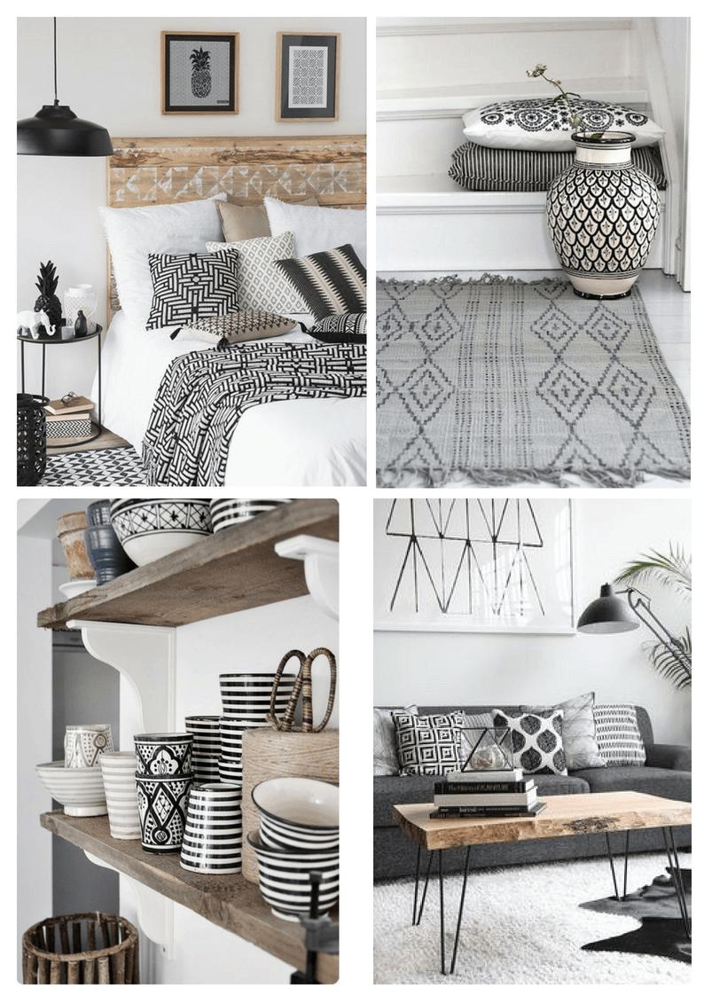 Идеи декора для дома в черно-белой гамме, вдохновение
