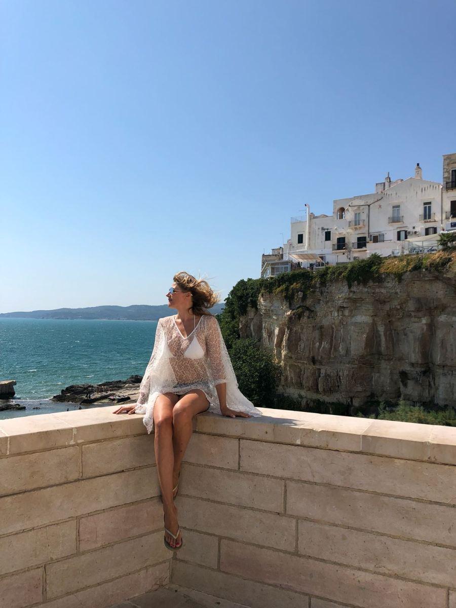 fuga di fine estate in Puglia Ntasha Stefanenko vieste 2