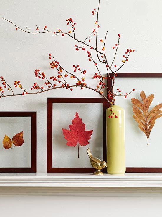 decorare la casa in autunno 9 idee foglie