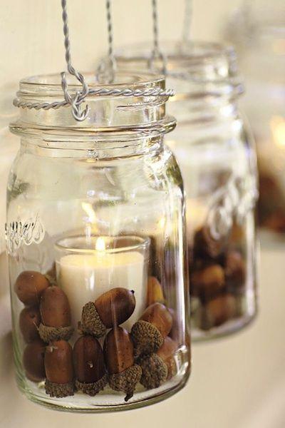 decorare la casa in autunno 9 idee candele