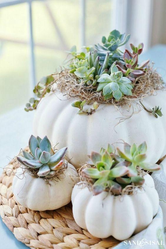 decorare la casa in autunno 9 idee zucche piante