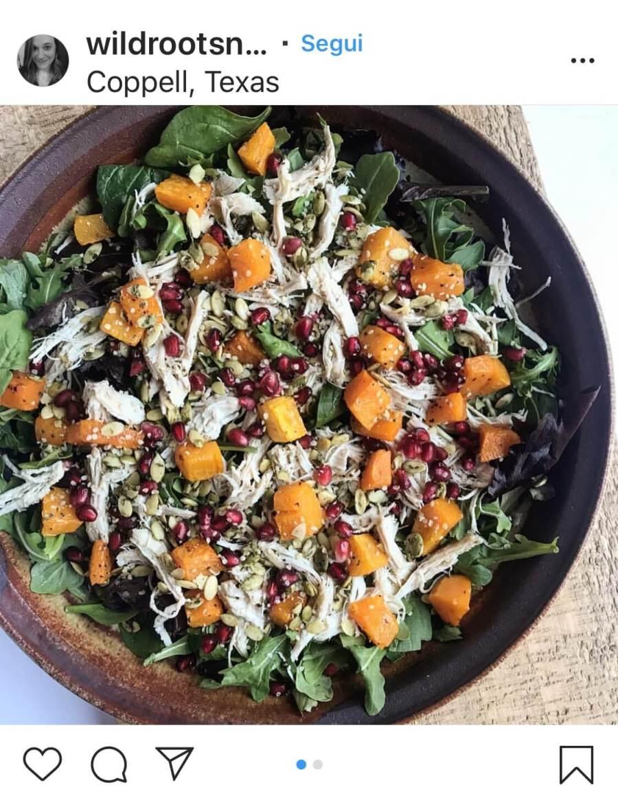 3 рецепта осенних салатов, из курицы и тыквы