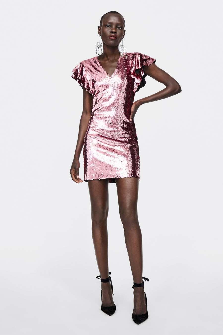 Недорогое праздничное платье, Zara