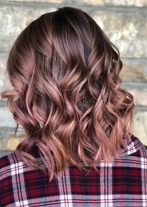 Capelli 2019 Tutte Le Tendenze Tagli E Colore Rose Brown Glowslycom