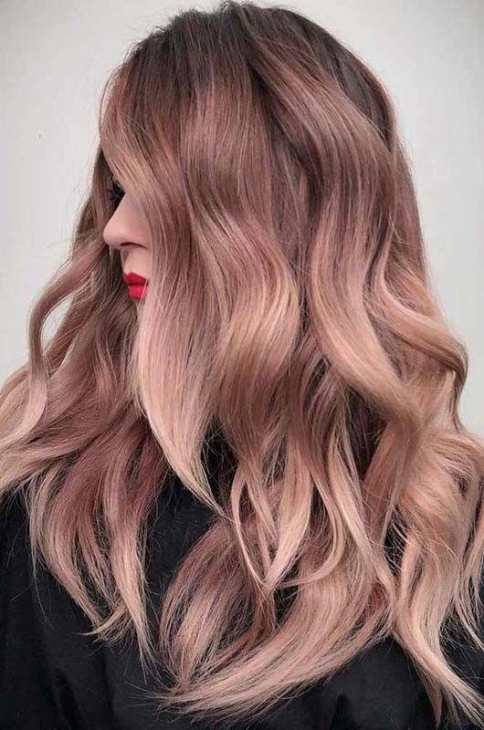 Тренды волос 2019, розовый