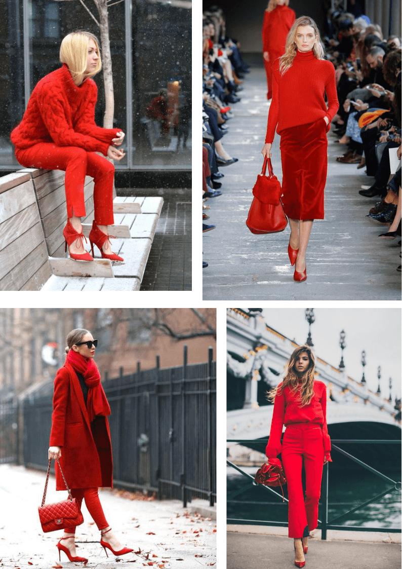 Look monocolore rosso 1