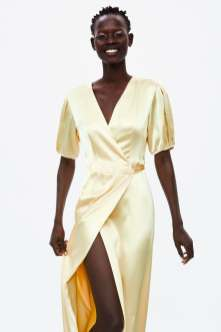 wrap dress zara