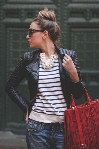Chiodo in pelle: 5 modi per indossarlo French style2