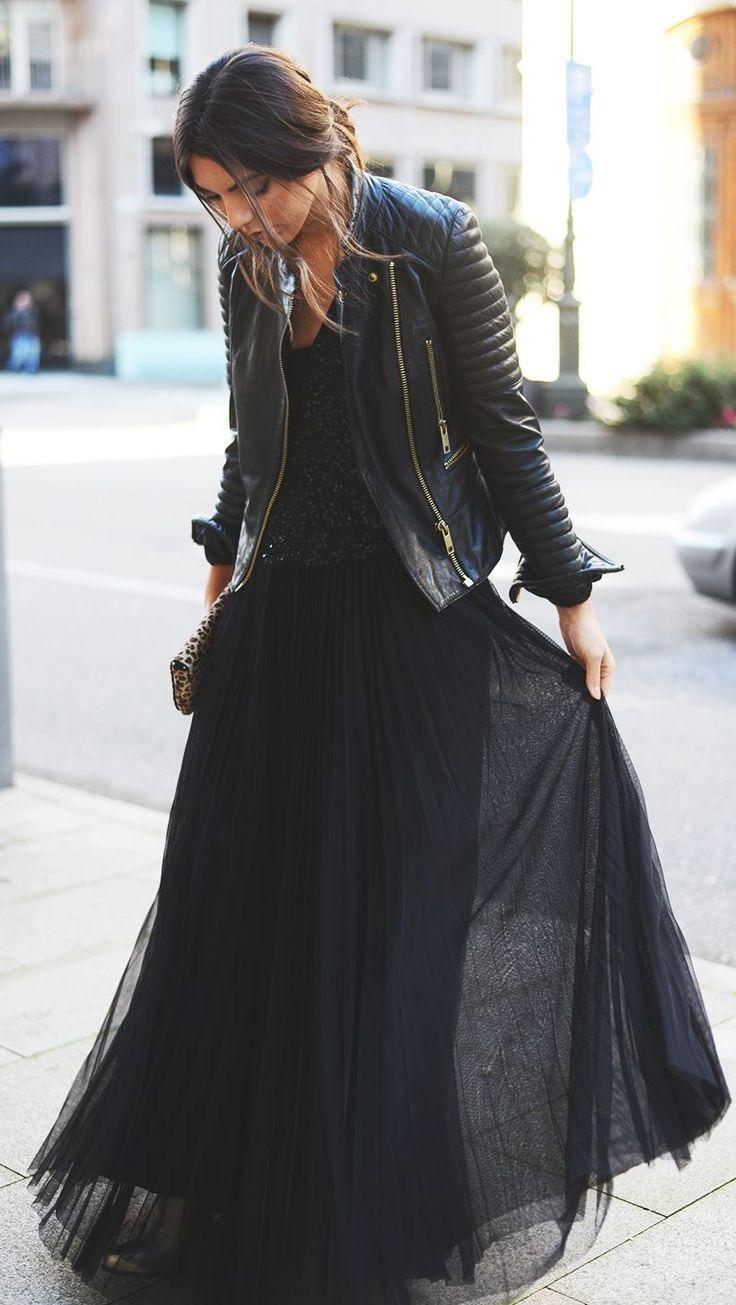 Chiodo in pelle: 5 modi per indossarlo la sera