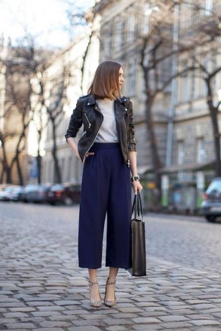 Chiodo in pelle: 5 modi per indossarlo al lavoro 2