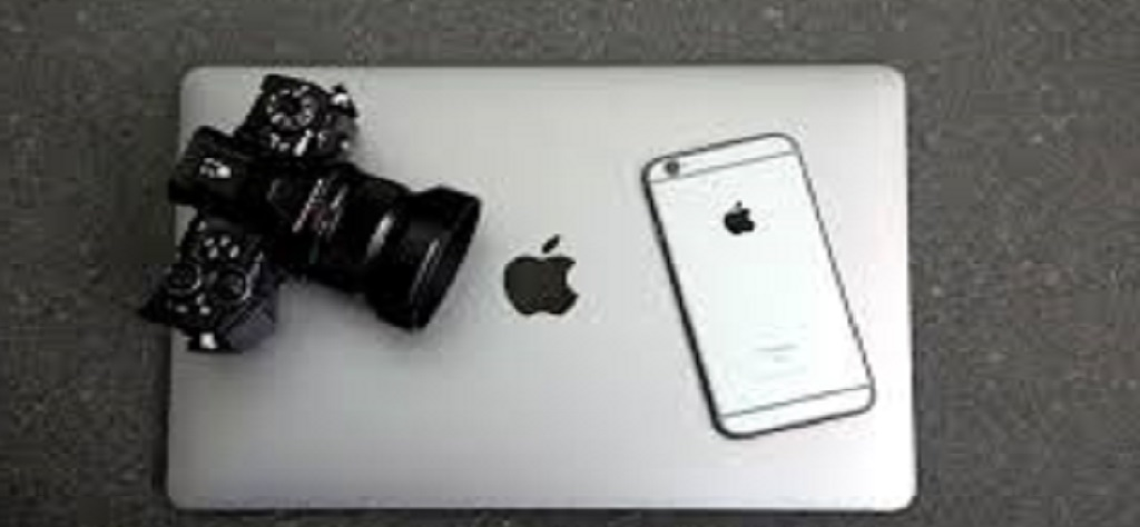 laptop, camera and phone