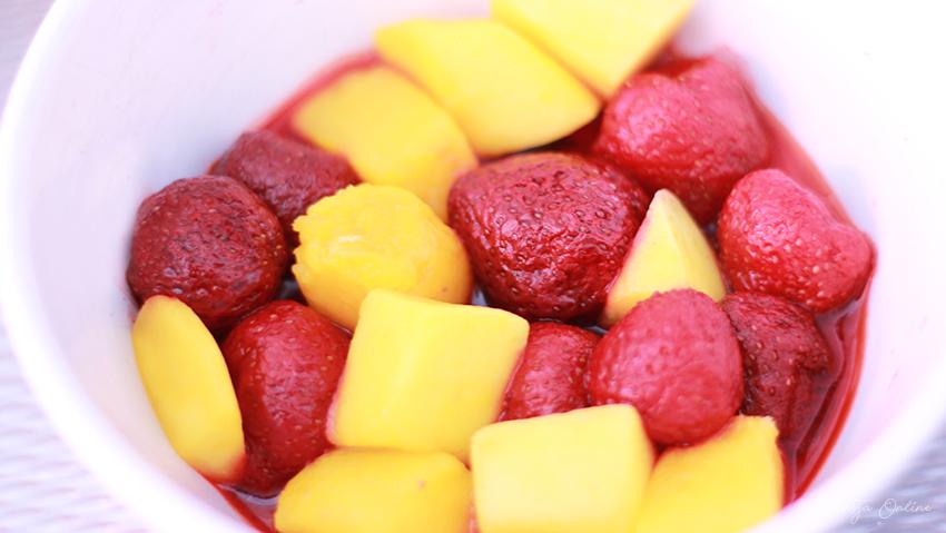 babyhapje mango aardbei