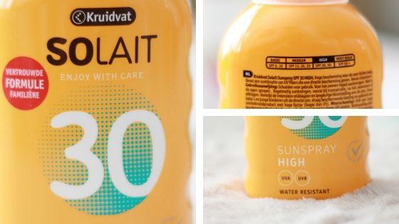 Kruidvat Solait spf 30 verpakking