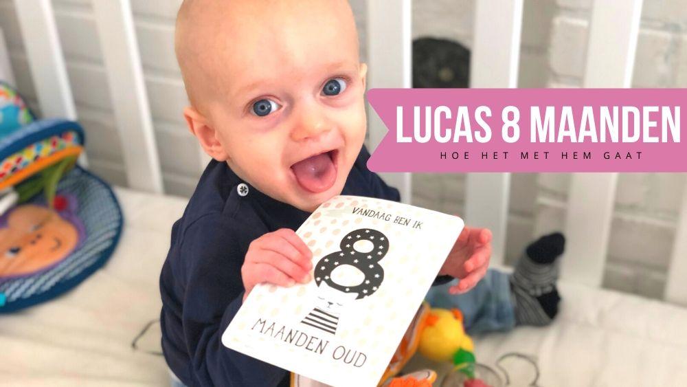 Lucas 8 maanden oud