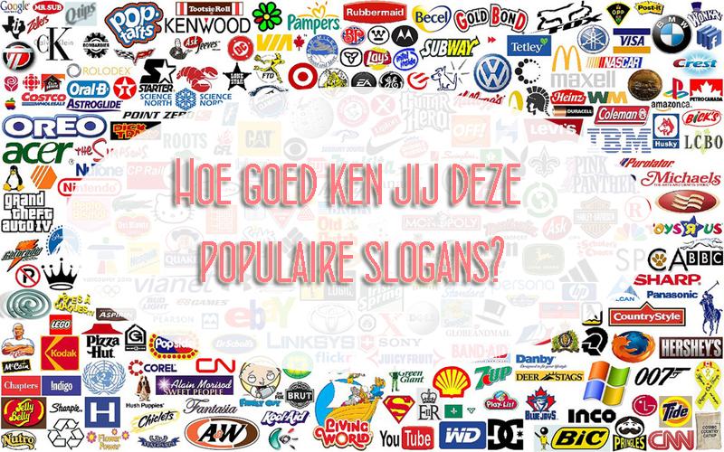 QUIZ | Hoe goed ken jij deze populaire slogans?