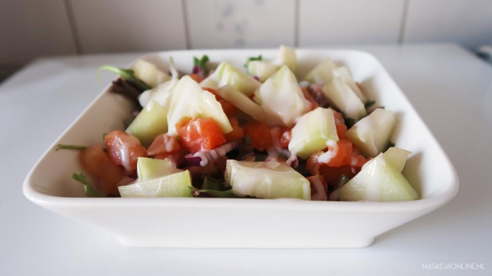 Zalm Meloen Salade