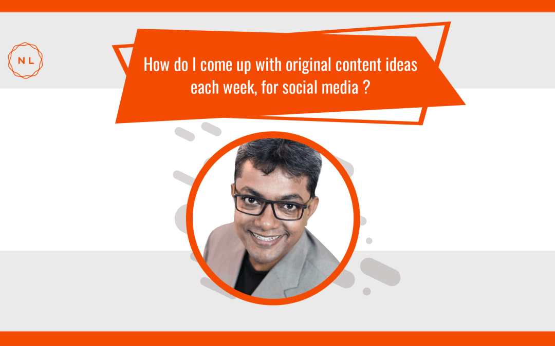 How do I come up with original content ideas each week for social media? #AskNatchi